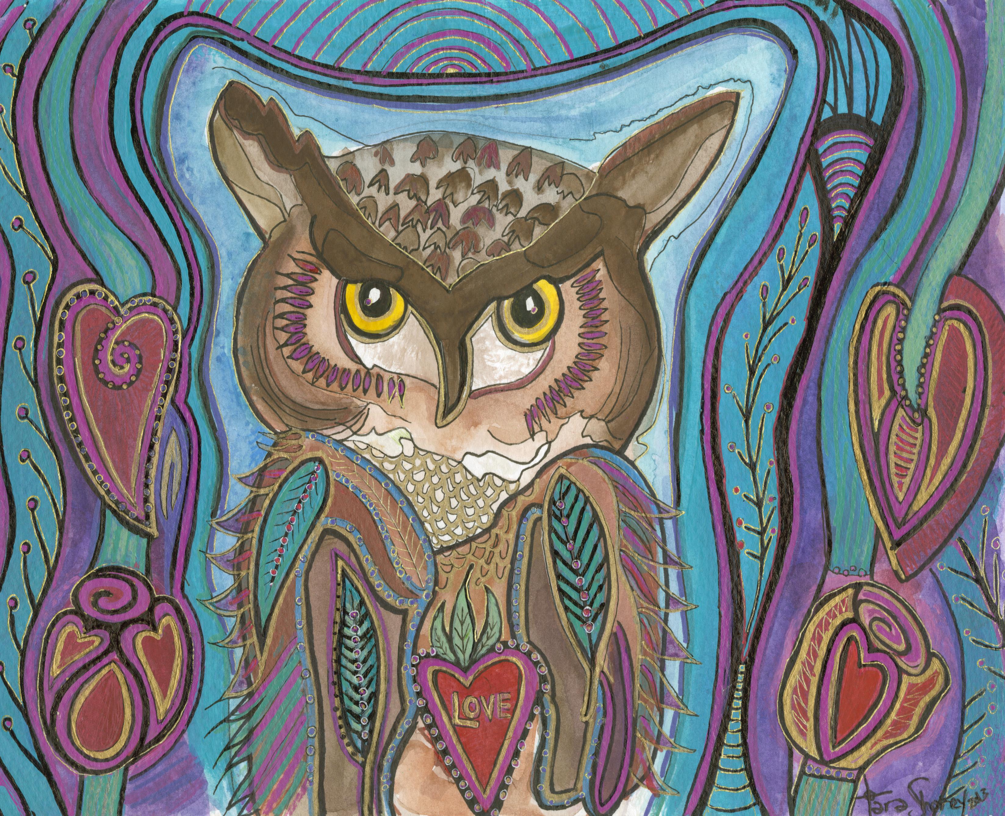 Owl Love Bird